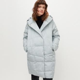 Reserved - Długa kurtka z kapturem - Niebieski