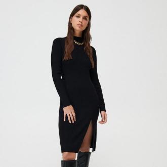 Mohito - Swetrowa sukienka z półgolfem -