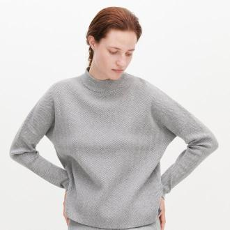 Reserved - Sweter w jodełkę - Wielobarwny