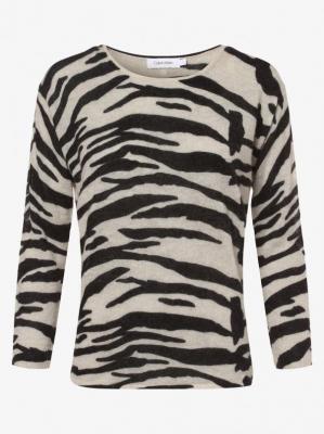Calvin Klein - Sweter damski z dodatkiem alpaki, czarny