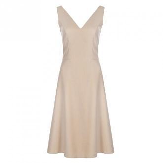 Colett Sukienka z dekoltem na plecach Sukienki Beżowy Dorośli Kobiety