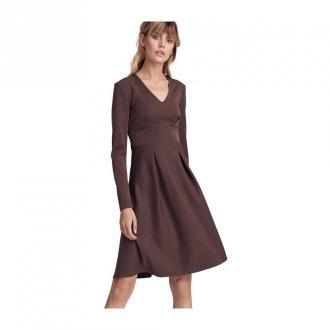 Colett Sukienka z dwoma kontrafałdami Sukienki Brązowy Dorośli Kobiety