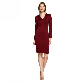 Colett Sukienka z dekoltem w literę V Sukienki Czerwony Dorośli