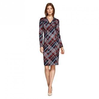 Colett Sukienka z dekoltem w literę V Sukienki Szary Dorośli Kobiety