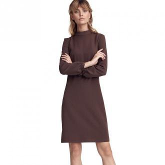 """Colett Sukienka w literę """"A"""" z półgolfem Sukienki Brązowy Dorośli"""