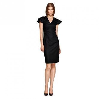 Colett Sukienka z oryginalnymi rękawami Sukienki Czarny Dorośli