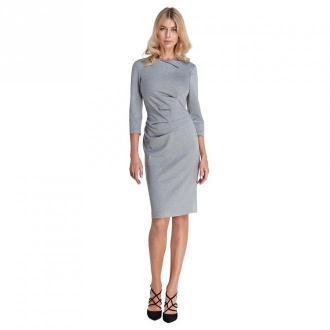 Colett Sukienka z marszczeniami w talii Sukienki Szary Dorośli Kobiety
