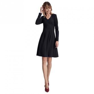 Colett Sukienka z dwoma kontrafałdami Sukienki Czarny Dorośli Kobiety