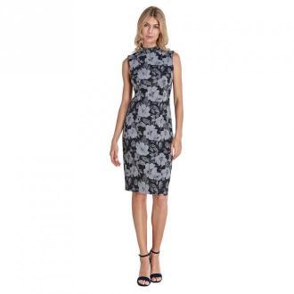 Colett Dzianinowa sukienka Sukienki Czarny Dorośli Kobiety Rozmiar: 44