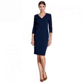 Colett Sukienka z plisowanym paskiem w talii Sukienki Niebieski