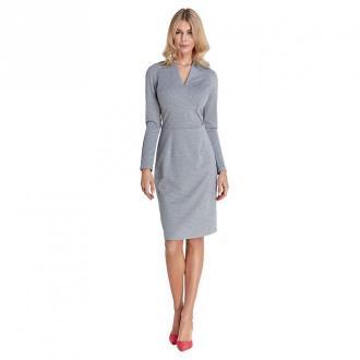 Colett Sukienka z subtelnym dekoltem Sukienki Szary Dorośli Kobiety