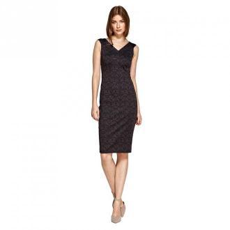 Colett Sukienka z dekoltem w serek Sukienki Fioletowy Dorośli Kobiety