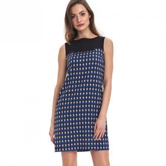 Colett Dwukolorowa sukienka Sukienki Niebieski Dorośli Kobiety