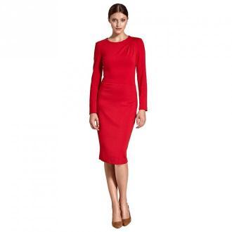 Colett Sukienka z zakładkami na jednym ramieniu Sukienki Czerwony