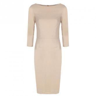 Colett Sukienka z rękawem 3/4 Sukienki Beżowy Dorośli Kobiety Rozmiar: