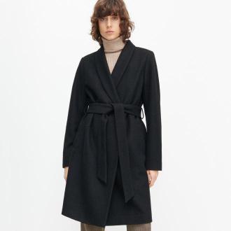 Reserved - Płaszcz z wełną - Czarny