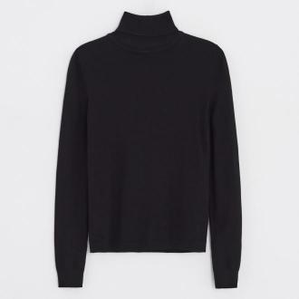 Cropp - Sweter basic z golfem - Czarny
