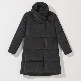 Mohito - Pikowany płaszcz z odpinanymi rękawami - Czarny