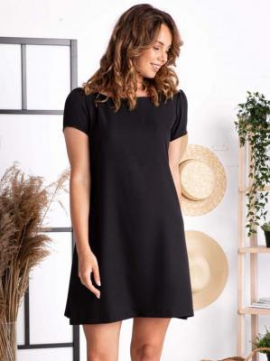 Sukienka mała czarna trapezowa KLEMENTYNA PROMOCJA
