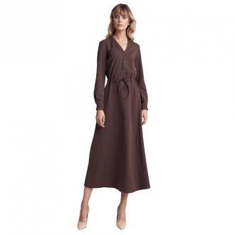 Colett Sukienka za pół łydki Sukienki Brązowy Dorośli Kobiety Rozmiar:
