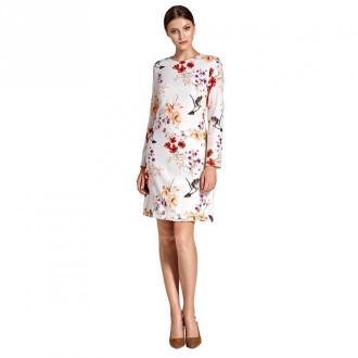 Colett Wzorzysta sukienka w literę A Sukienki Beżowy Dorośli Kobiety