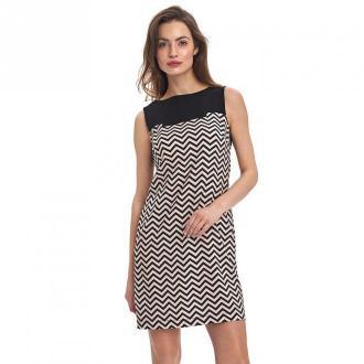 Colett Dwukolorowa sukienka Sukienki Beżowy Dorośli Kobiety Rozmiar: L