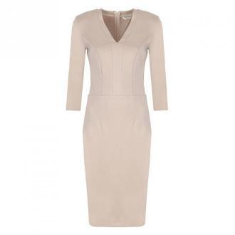 Colett Sukienka z dekoltem w literę V Sukienki Beżowy Dorośli Kobiety