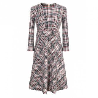 Nife Sukienka w kratę odcięta pod linią biustu Sukienki Fioletowy