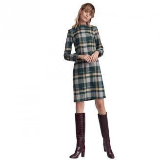 Colett Wzorzysta sukienka w literę A z półgolfem Sukienki Zielony