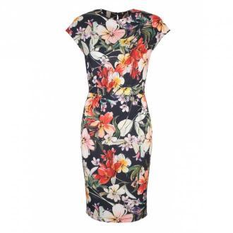 Nife letnia sukienka w modne kwiaty Sukienki Niebieski Dorośli Kobiety