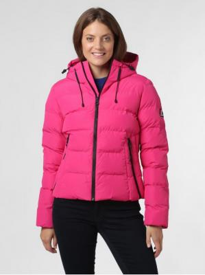 Superdry - Damska kurtka pikowana, różowy