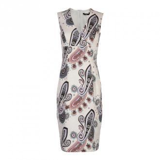 Nife Ołówkowa sukienka z dekoltem V Sukienki Beżowy Dorośli Kobiety