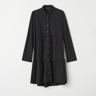 Mohito - Koszulowa sukienka z wiskozą - Czarny