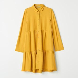 Mohito - Koszulowa sukienka z wiskozą - Żółty