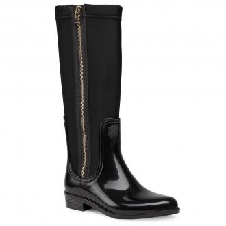 Kalosze TOMMY HILFIGER - Tommy Neoprene Long Rainboot FW0FW05358 Black BDS