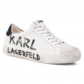 Sneakersy KARL LAGERFELD - KL60110 White Lthr & Suede