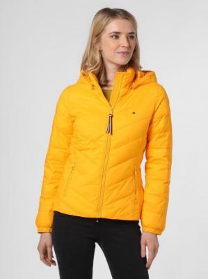 Tommy Hilfiger - Damska kurtka pikowana, żółty