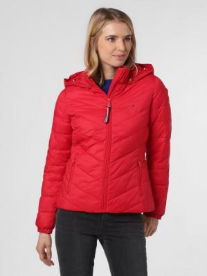 Tommy Hilfiger - Damska kurtka pikowana, czerwony