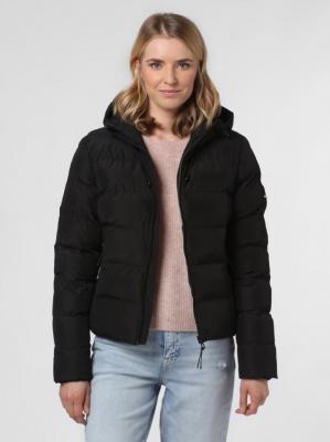 Superdry - Damska kurtka pikowana, czarny