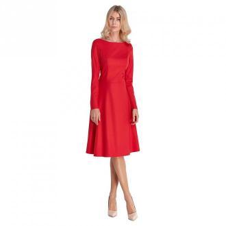Colett Elegancka sukienka midi Sukienki Czerwony Dorośli Kobiety
