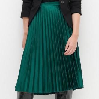 Reserved - Plisowana spódnica - Khaki
