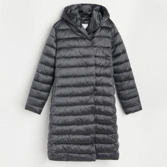 Reserved - Pikowany płaszcz - Szary