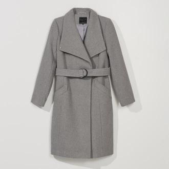 Mohito - Klasyczny płaszcz z domieszką wełny - Szary