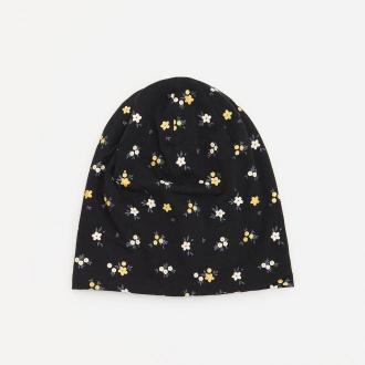 Reserved - Bawełniana czapka ze wzorem - Czarny