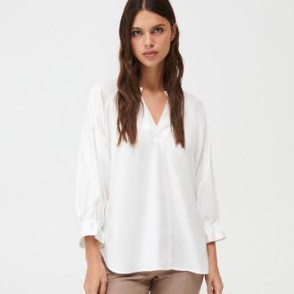 Mohito - Gładka bluzka z lyocellu Eco Aware - Kremowy