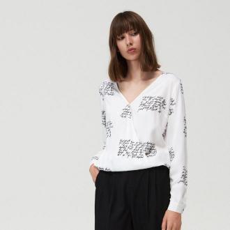Mohito - Kopertowa bluzka z wiskozy - Biały