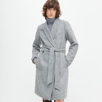 Reserved - Płaszcz z wełną - Jasny szary