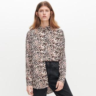 Reserved - Wiskozowa koszula w cętki - Beżowy