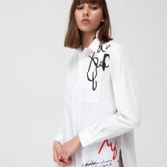 Mohito - Długa koszula z bawełny - Biały