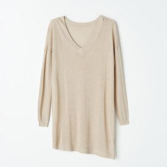 Mohito - Długi sweter z błyszczącą nitką - Beżowy